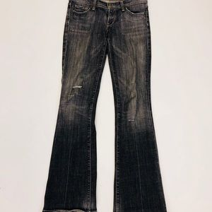 Citizens of Humanity Low Waist Flare Black Jeans